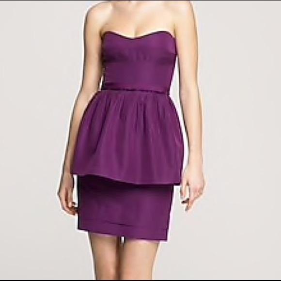 e17ed2410368 J. Crew Dresses | J Crew Plum Leighton Dress Cotton Silk Faille Sz 2 ...